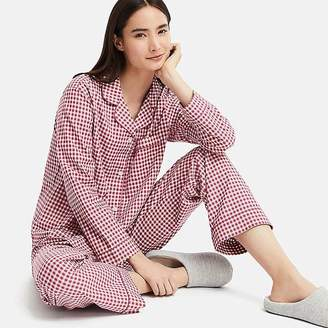 Uniqlo Women's Cotton Long-sleeve Pajamas