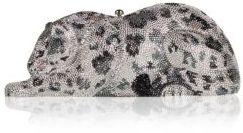 Judith Leiber Snow Leopard Wildcat Crystal Clutch $5,495 thestylecure.com