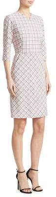 Piazza Sempione Check-Print Sheath Dress