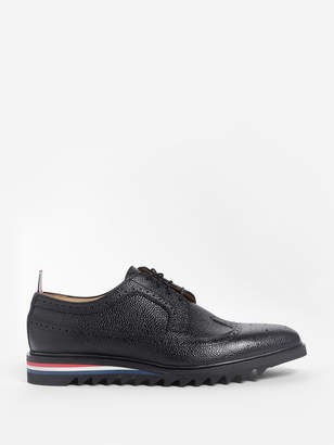Thom Browne BLACK CLASSIC LONGWING PEBBLE GRAIN BROGUES
