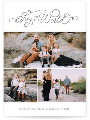 Joy to the World Scroll Custom Selflaunch Stationery