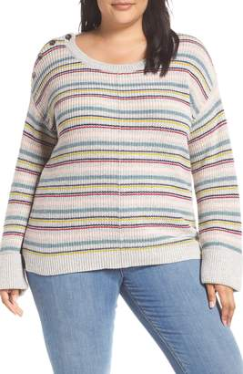 Caslon Button Shoulder Sweater