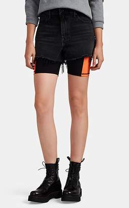 Alexander Wang Denim x Women's Bite High-Rise Denim Cutoff Shorts - Dark Gray