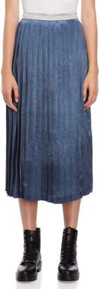 Romanchic Pleated Satin Skirt