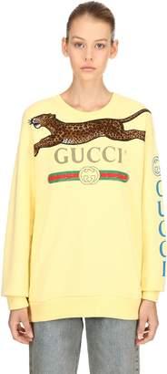 Gucci Print Cotton Jersey Sweatshirt