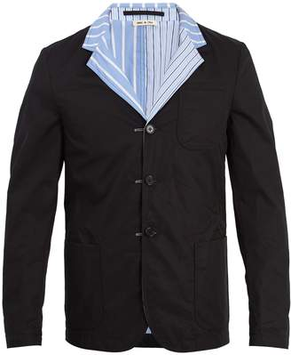 Marni Reversible striped cotton blazer