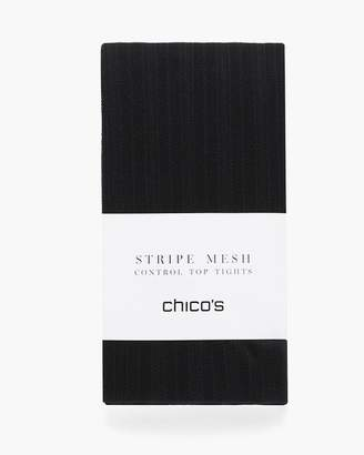 Chico's Striped Mesh Tights