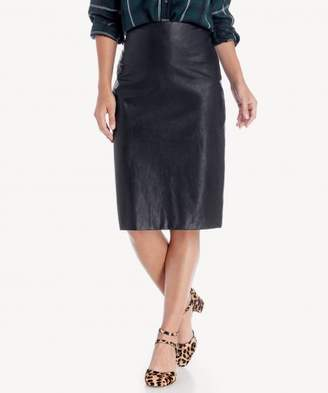 Sole Society Vegan Leather Midi Pencil Skirt
