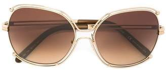 Chloé Eyewear geometric metallic frame sunglasses