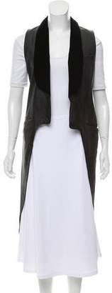 Alexander Wang Velvet-Trimmed Leather Vest
