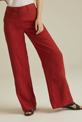 Long Tall Sally Wide Leg Linen Trouser