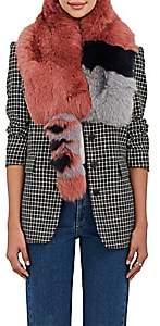 Barneys New York Women's Fox-Fur Scarf-Pink