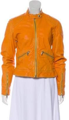 Dolce & Gabbana Distressed Leather Jacket