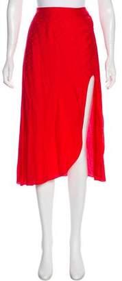 For Love & Lemons Printed Knee-Length Skirt