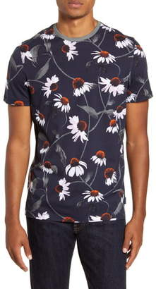 Ted Baker Floral Slim Fit T-Shirt