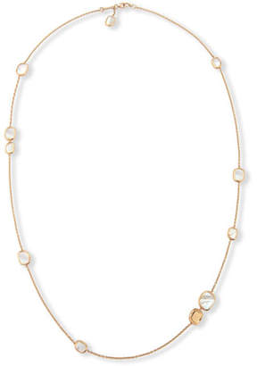 """Roberto Coin Mother-of-Pearl 18K Rose Gold Station Necklace, 31"""""""
