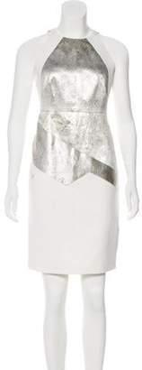 J. Mendel Metallic Colorblock Dress