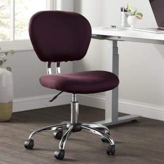 STUDY Wayfair Basics Wayfair Basics Office Chair Color : Burgundy Mesh, Arms: Not Included