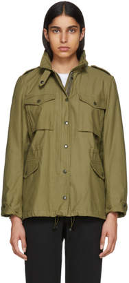 Rag & Bone Green M15 Moto Jacket