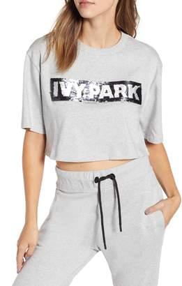 Ivy Park R) Sequin Logo Crop Tee