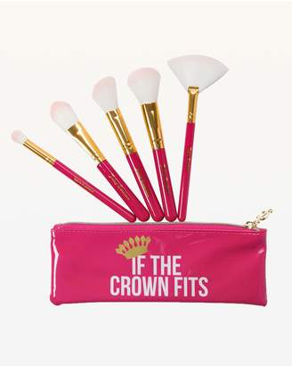 Juicy Couture If the Crown Fits 5-Piece Brush Set with Cosmetic Bag