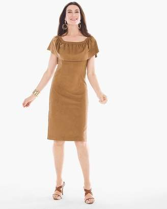 Chico's Faux-Suede Short Dress