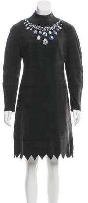Vika Gazinskaya Rib Knit Embroidered Dress