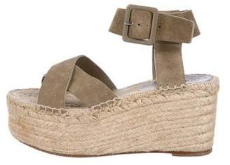 Celine Suede Platform Wedge Sandals