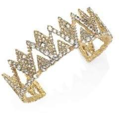 Alexis Bittar Elements Crystal-Encrusted Spiked Lattice Cuff