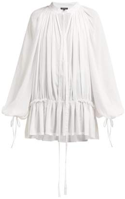 Ann Demeulemeester Ewing Flounce Sleeve Shirt - Womens - Ivory
