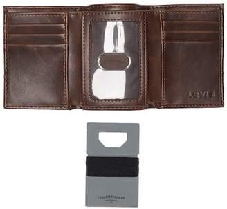 Levi's RFID Wallet & Credit Card Bottle Opener Set