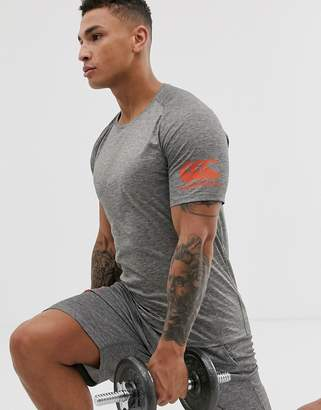Canterbury of New Zealand Vapodri t-shirt in grey marl exclusive to ASOS