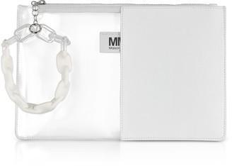 Maison Margiela White Half Transparent Pouch