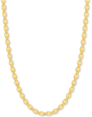 "Macy's 18"" Valentina Link Chain Necklace in 14k Gold"