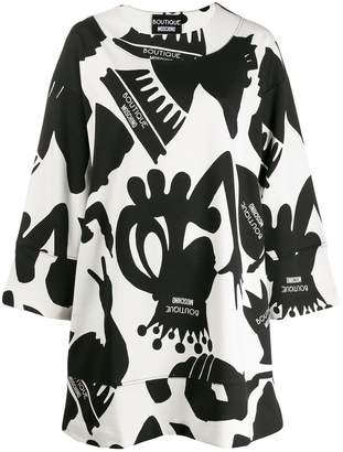 Moschino printed shift dress