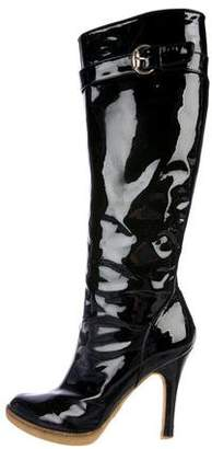 Gucci Patent Leather Knee-High Boots
