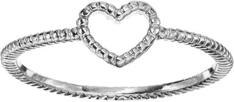 Lauren Conrad Textured Heart Midi Ring
