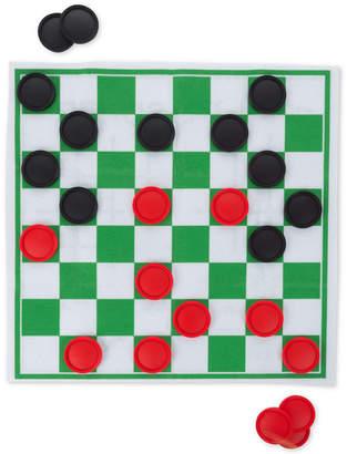25-Pc. Giant Checkers & Tic Tac Toe Game Set