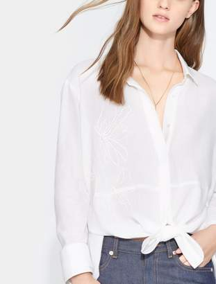 Halston Embroidered Button Down Shirt