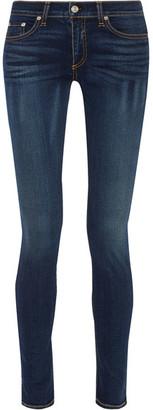 rag & bone - The Skinny Mid-rise Jeans - Dark denim $190 thestylecure.com