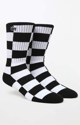 Obey Checkers Crew Socks