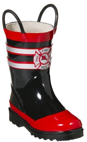 Kids' Upton Fireman Rain Boots - Red/ Black