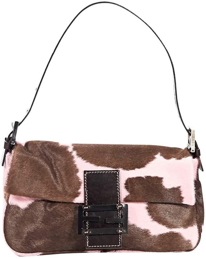 Baguette pony-style calfskin handbag