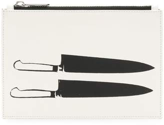 Calvin Klein knife print clutch bag