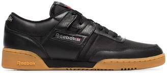 Reebok black Workout 85 TXT leather sneakers