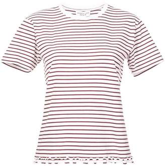 Derek Lam 10 Crosby Short Sleeve Tee with Ruffle Hem