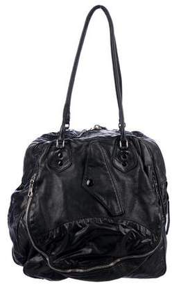 Balenciaga Leather & Nylon Shoulder Bag