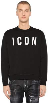 DSQUARED2 Icon Printed Cotton Jersey Sweatshirt