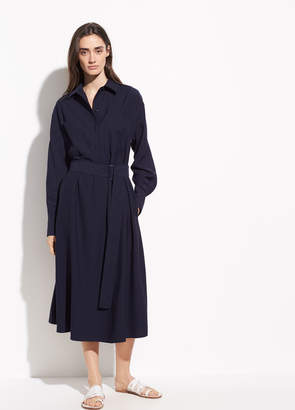 Long Sleeve Utility Shirt Dress