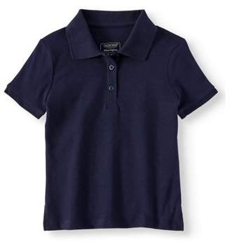 Cherokee Girls School Uniform Short Sleeve Interlock Polo